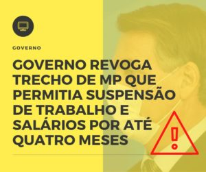 Governo Revoga Trecho De Mp Que Permitia Suspensão De Trabalho E Salários Por Até Quatro Meses Prime Cont - Escritório de Contabilidade em Caxias do Sul | Prime Cont