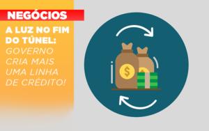 A Luz No Fim Do Tunel Governo Cria Mais Uma Linha De Credito - Escritório de Contabilidade em Caxias do Sul | Prime Cont